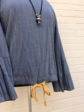Load image into Gallery viewer, Ivy Jane Denim Drawstring top 6 whiskey six whisky