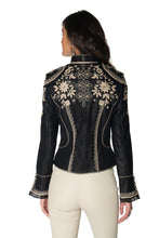 Load image into Gallery viewer, DDR Black and silver lace Dona Diego Jacket C2774 at 6Whiskey six whisky Maria spring 2021 Back detail