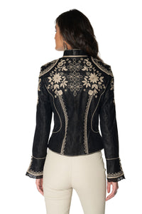 DDR Black and silver lace Dona Diego Jacket C2774 at 6Whiskey six whisky Maria spring 2021 Back detail