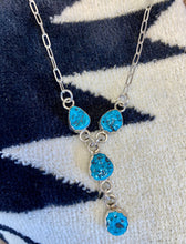 Load image into Gallery viewer, Turquoise Nugget 'Y' Necklace