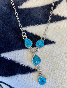 Turquoise Nugget 'Y' Necklace