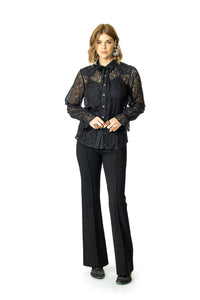 DDR Lil' Bit Country Top in Man in Black 6Whiskey Nashville Fall 2020 Long Sleeve Lace T3383