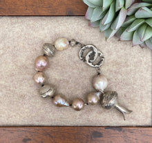 Load image into Gallery viewer, Love Tokens Freshwater Pearl Bracelets 6Whiskey squash blossom