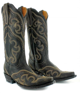 Old Gringo Shay Boots in Black and Beige 6Whiskey