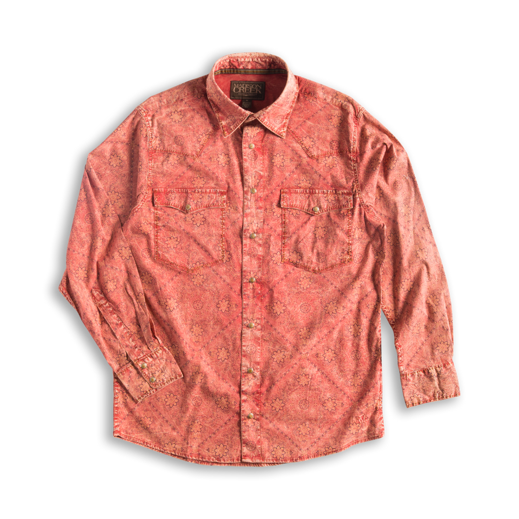 Madison Creek Outfitters Red bandana long sleeve shirt MCO 6Whiskey six whisky