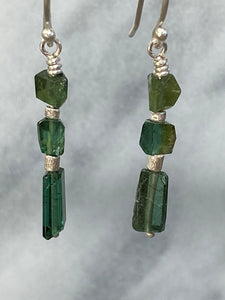 green tourmaline dangle earrings 6whiskey Promotes openness patience compassion tenderness creativity