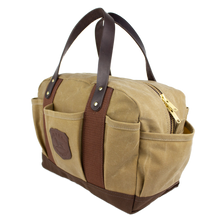 Load image into Gallery viewer, Sportsman's gear field bag 6 whiskey six whisky over under tan canvas hunting