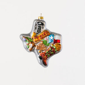 Texas State Glass Ornament