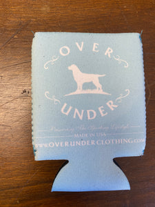 Over Under Light Blue Can Cooler/Koozie at 6Whiskey