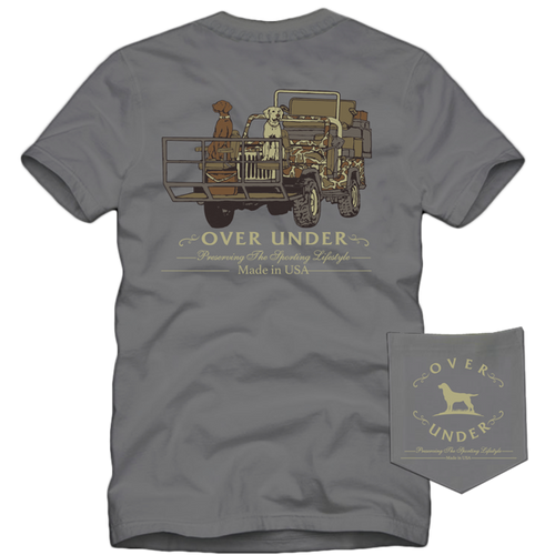 Short Sleeve Shotgun Rider t-shirt over under 6whiskey 6 whiskey six whisky American made USA