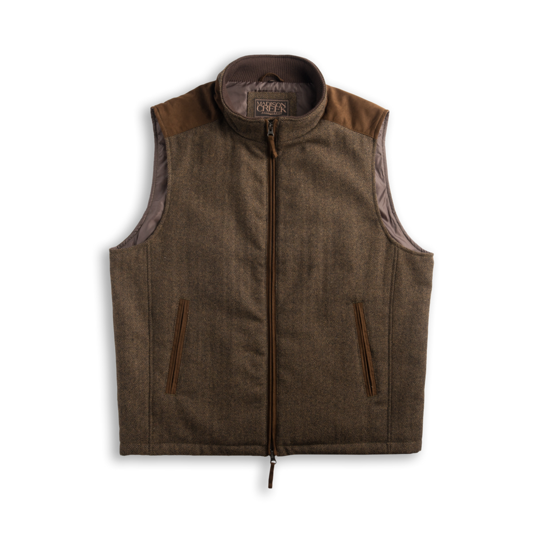 Madison Creek Outfitters Vest overland Tan herringbone MCO 6whiskey 6 whiskey six whisky