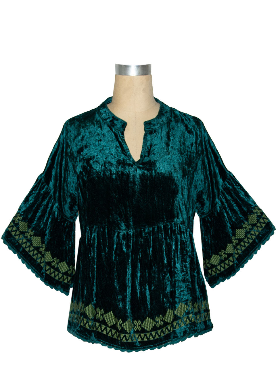 Ivy Jane Teal Embrodiered Velvet Top 6Whiskey Winter 2020