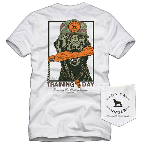 Short sleeve training day tshirt over under 6whiskey 6 whiskey six whisky American made USA