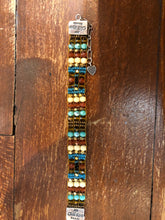 Load image into Gallery viewer, Peyote Bird Design: CHILI ROSE BEADED BRACELET