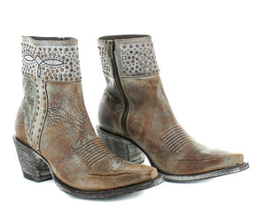 Old Gringo Winona Brown Studded Ankle Boot at 6Whiskey