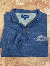 Load image into Gallery viewer, Oxford Crawford 1/4 Zip Fleece Pullover 6Whiskey Fall 2020 In Indigo Blue Heather