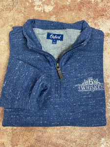 Oxford Crawford 1/4 Zip Fleece Pullover 6Whiskey Fall 2020 In Indigo Blue Heather