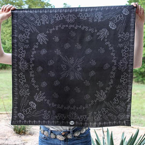 Scarf ~ Black Cacti ~ Shorty