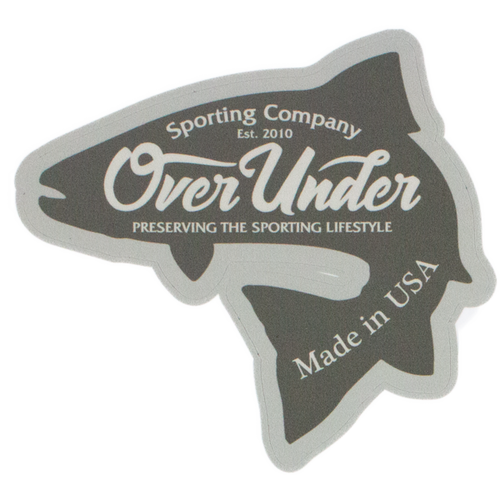 Over Under Trout Sticker 6 Whiskey fish six whisky Georgetown