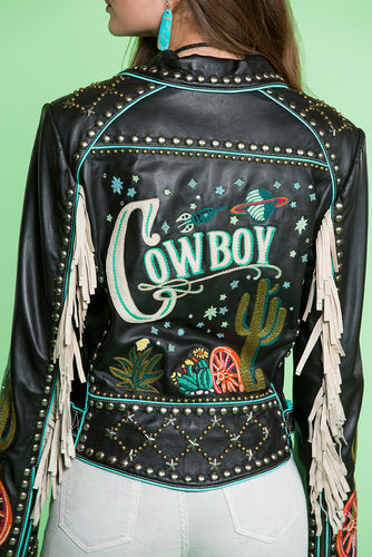 Double D Ranch Space Cowboy Leather Jacket
