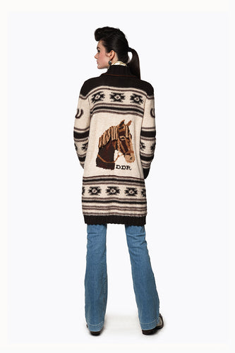 C2605 Double D Ranch Sweater ~ Spanish Pony DD Ranch 6 whiskey six whisky
