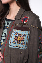 Load image into Gallery viewer, Double D Ranch Field Jacket ~ American Assemblage C2620 6 Whiskey hand beading detail overall southwestern vibe