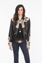 Load image into Gallery viewer, Double D Ranch Jacket, Cass Black Leather, DDR, C2669, Midnight Cowboy 6whiskey six whisky