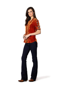 Double D Ranch Velvet Blackhills Top in Shasta 6Whiskey Cody Fall Collection 2020 T3336