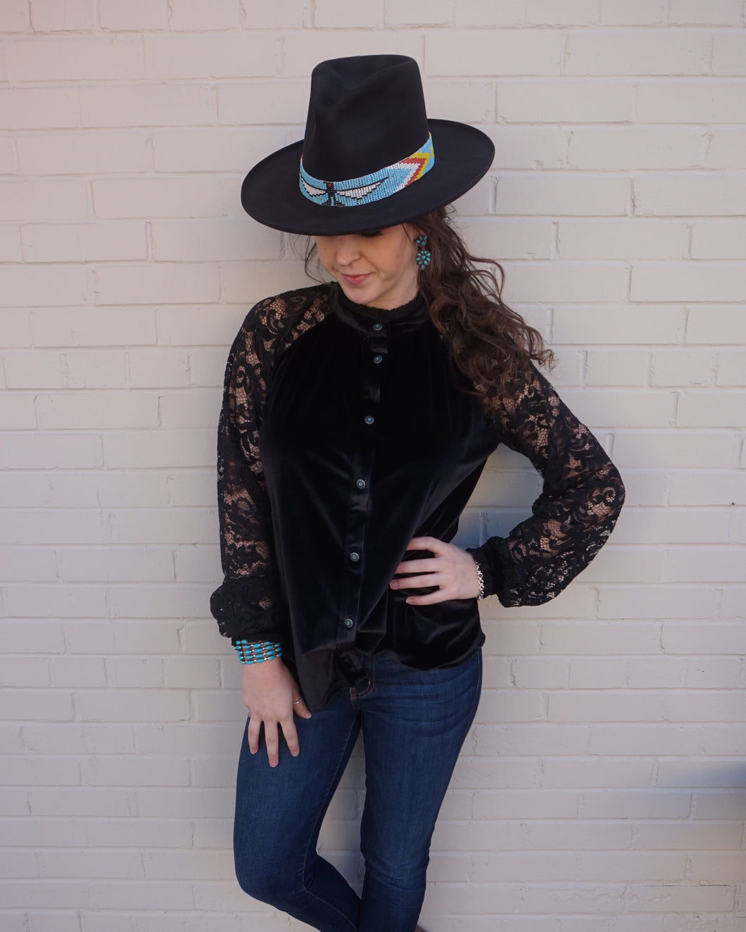 Tasha Polizzi ~ Blouse ~ Willa ~ Black 6 Whiskey six whisky