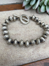 Load image into Gallery viewer, Love Tokens Silver Spun Bracelet 6Whiskey