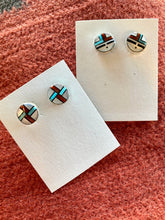 Load image into Gallery viewer, Inlay Stud Earrings