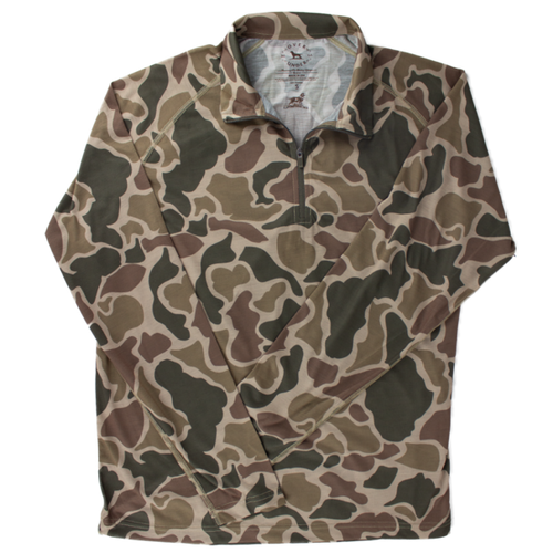 Over Under ~ Duck Camo Jacket 1/4 Zip 6 Whiskey Georgetown water proof six whisky
