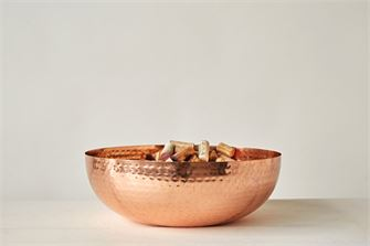 Hammered Bowl in Copper Finish