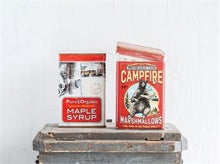 Load image into Gallery viewer, Campfire Marshmallows Ceramic Container with Lid