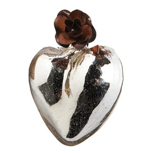 Jan Barboglio silver heart corazon D'Melon 6 whiskey six whisky iron rose flower gift wedding valentine birthday