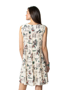 Double d 6 whiskey doodle dandy dress v neck D1271 Willies Picnic six whisky back view
