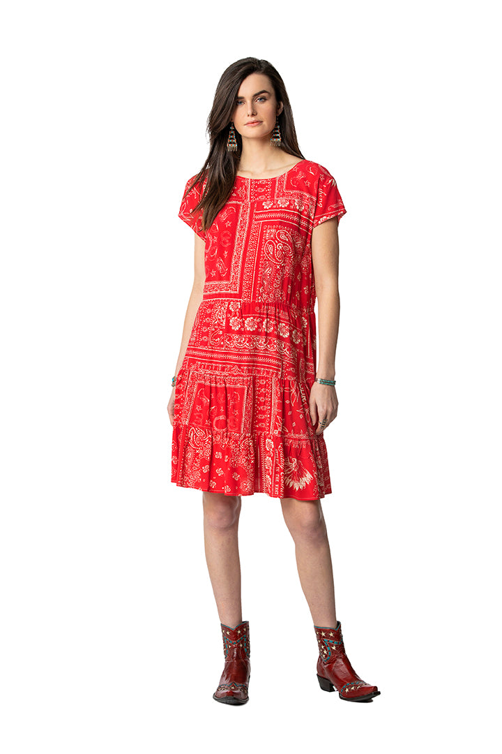 Double D Red bandana dress 6 whiskey willies picnic D1274