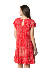 Load image into Gallery viewer, Double D Red bandana dress 6 whiskey willies picnic D1274