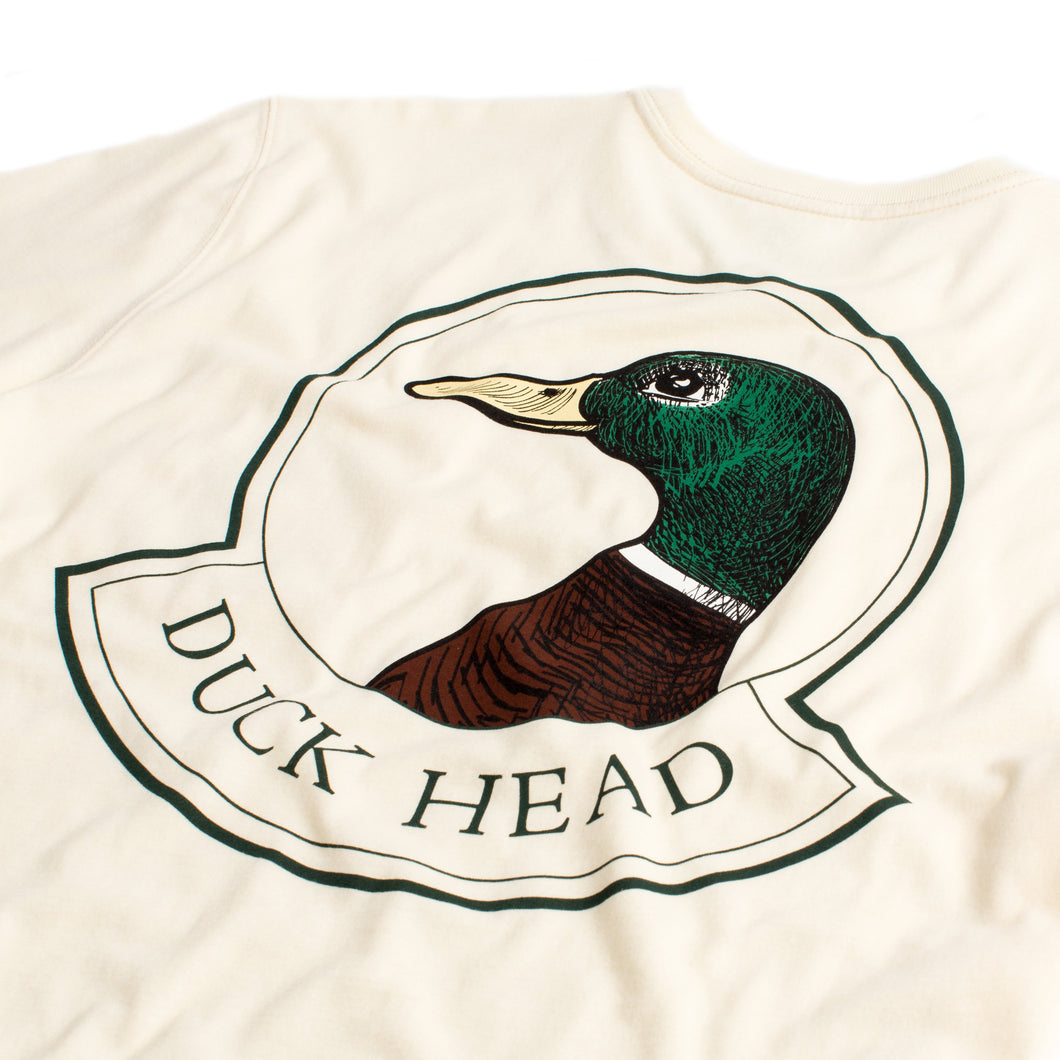 Duck Head Long Sleeve t-shirt badge logo 6whiskey six whisky 6 whiskey