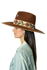 DDR Felt Showman Hat in bay brown FA794 Fall Cody Collection at 6Whiskey six whisky