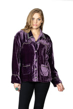 Load image into Gallery viewer, Double D Ranch Velvet Blackhills Jacket in Pagent Purple 6Whiskey Cody Fall Collection 2020 C2718