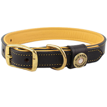 Load image into Gallery viewer, Over Under Deerskin Leather Dog Collar