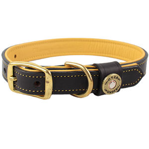 Over Under Deerskin Leather Dog Collar
