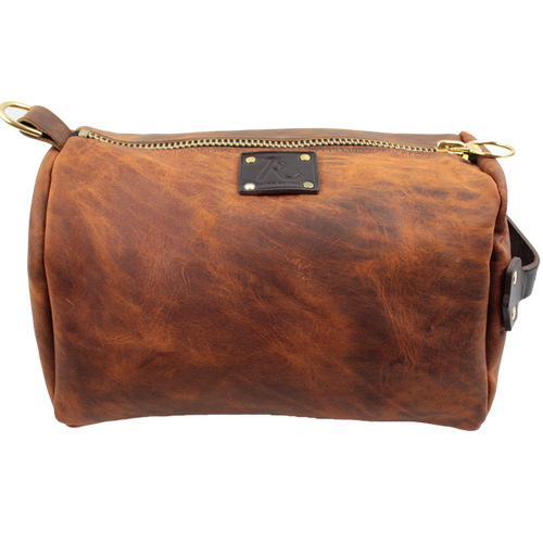Over Under Leather Dopp Kit