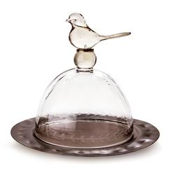 Jan Barboglio 6 Whiskey Dona Paloma dove glass and iron serving platter bird six whisky
