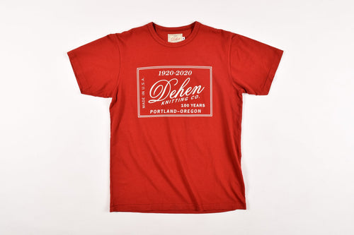 Dehen 100 Year Anniversary Label Tee 6 Whiskey six whisky Made in USA