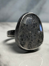 Load image into Gallery viewer, Oval ring in grey hematite 6whiskey six whisky