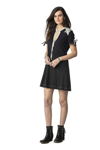 Double D Ranch 6 Whiskey Bakersfield Boogie Dress in Black Bakersfield Collection dress D1275