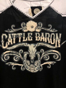 Double D Ranch Top ~ Cattle Barons Ball ~ T3190 DD Ranch 6 Whiskey six whisky