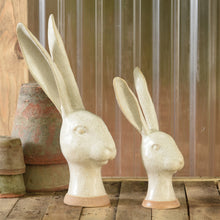Load image into Gallery viewer, Ivory Ceramic Jackrabbit Head 6Whiskey Home Decor